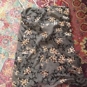 Forever 21 grey grunge floral dress